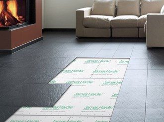 ceramic and vinyl underlay