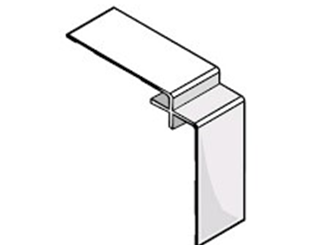 james hardie 9mm aluminium internal corner 3000mm