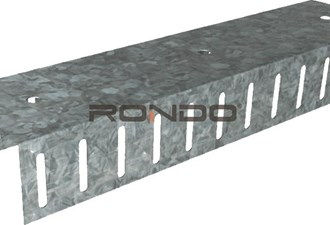 rondo 92mm x 3000mm 1.15bmt slotted deflection head track