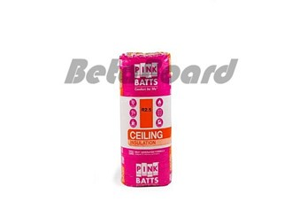 pink batts r2.5 1160mm x 430mm x 130mm 8.0m² ceiling insulation - 16 pack