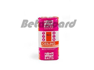 pink batts r2.5 1160mm x 580mm x 130mm 10.8m² ceiling insulation - 16 pack