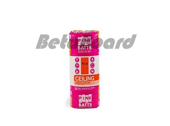 pink batts insulation r3.0 1160mm x 430mm 8m² ceiling insulation - 16 pack