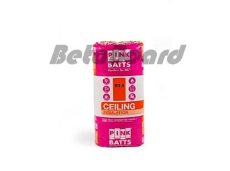 pink batts r3.5 1160mm x 580mm x 175mm 6.73m² ceiling insulation - 10 pack