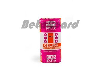 pink batts r4.0 1160mm x 580mm x 190mm 6.73m² ceiling insulation - 10 pack