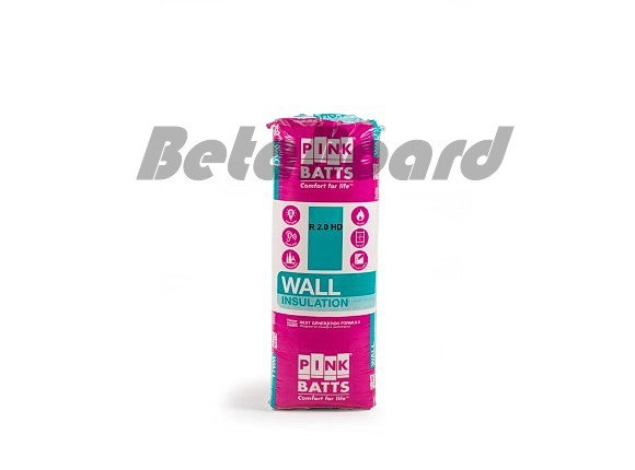 pink batts hd r2.0 1160mm x 430mm x 70mm 6.0m² insulation - 12 pack