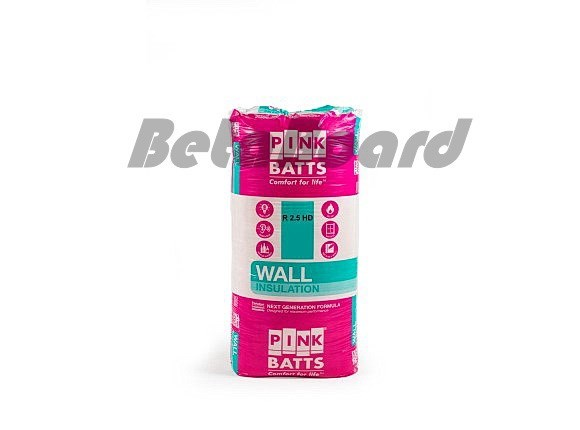 pink batts hd r2.5 1200mm x 600mm x 90mm 8.6m² insulation - 12 pack