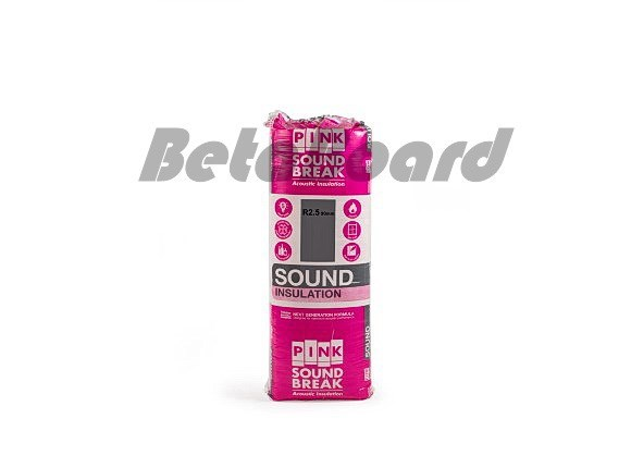 pink soundbreak batts r2.5 1160mm x 430mm x 90mm 3.99m² - 8 pack