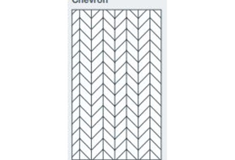2745x1200x9.5mm expression clad chevron pattern - made to order only