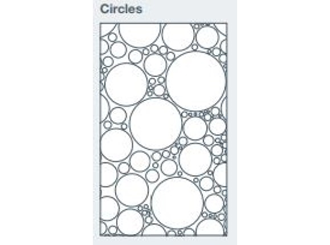 2745x1200x9.5mm expression clad circles pattern - made to order only