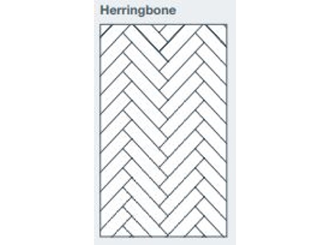2745x1200x9.5mm expression clad herringbone pattern - made to order only