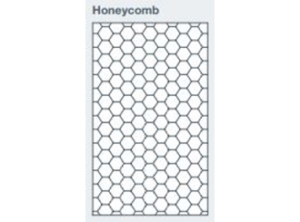 2745x1200x9.5mm expression clad honeycomb pattern - made to order only