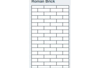 2745x1200x9.5mm expression clad roman brick pattern - made to order only