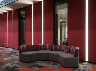 autex vertiface 1300mm wide fabric wall covering per lineal metre ( min 2 mtrs )