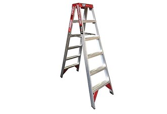 170kg 6 step double sided ladder