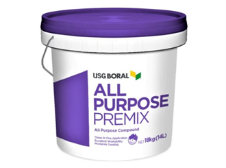 usg boral all purpose pre-mix 18kg bucket