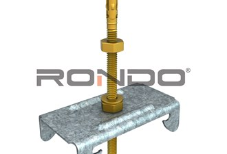 rondo 65mm m6 adjustable anchor bolt furring channel to concrete