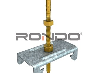 rondo 180mm m6 adjustable anchor bolt furring channel to concrete