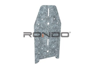 rondo extended 35mm ceiling batten steel/timber clip