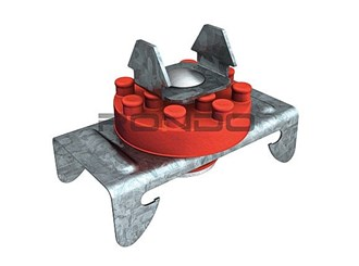 rondo suspension mount for furriing channel top cross rail
