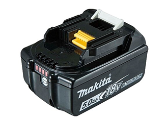 makita 18v 5.0ah battery with fuel gauge indicator