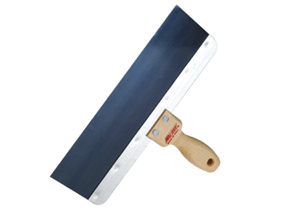 200mm blue steel taping knife wood handle